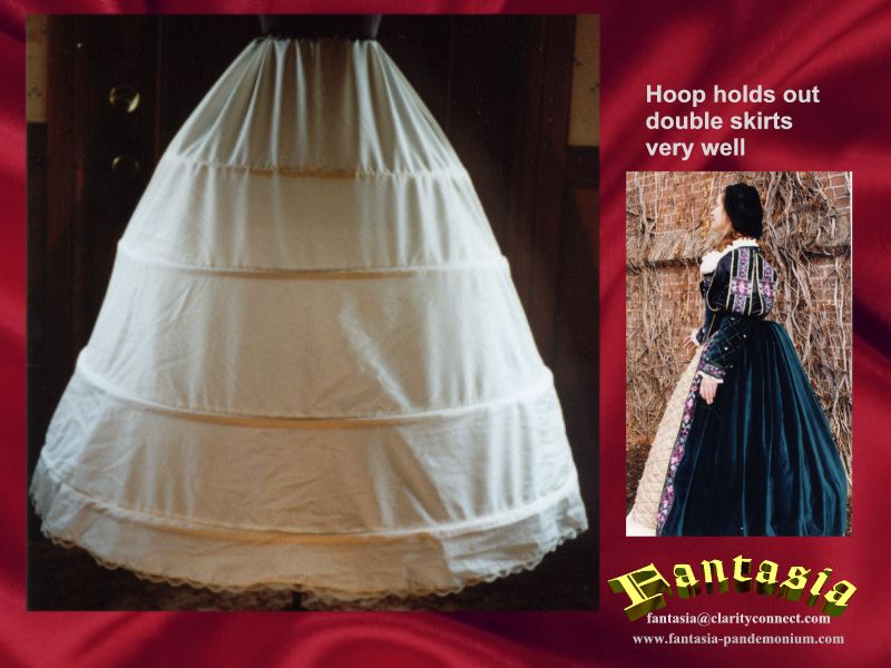 Hoop Skirts, still strong enough to hold up our Court Dress Skirt ...